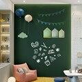 45/60x100cm magnético blackboard adesivos de parede crianças giz desenho nota placa escritório verde auto-adesivo removível