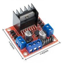 10 יח\חבילה 100% חדש ומקורי L298N מנוע נהג לוח מודול מנוע צעד חכם רכב רובוט