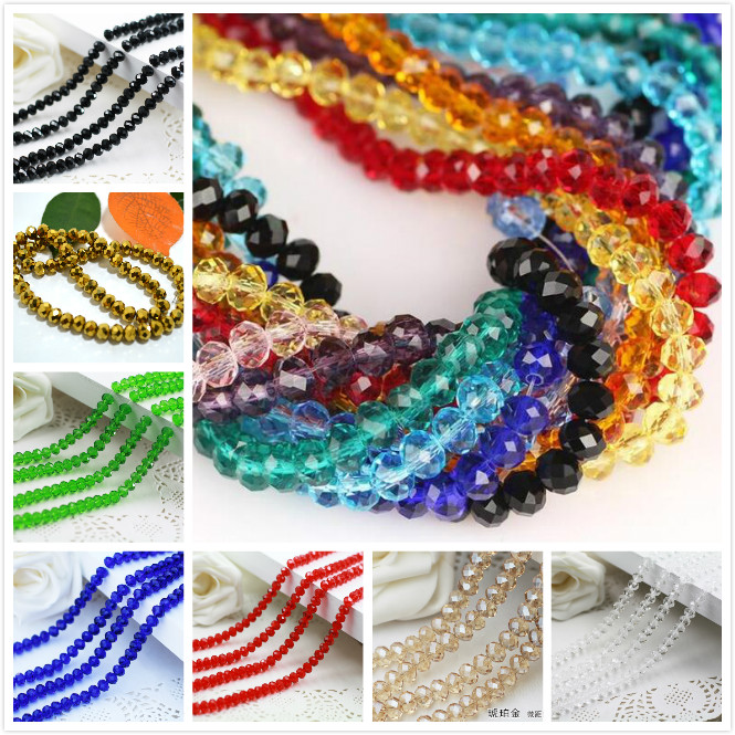 Aaaa qualidade superior 2-12mm 80 cores rondelle áustria facetado contas de vidro cristal espaçador solto contas redondas para fazer jóias