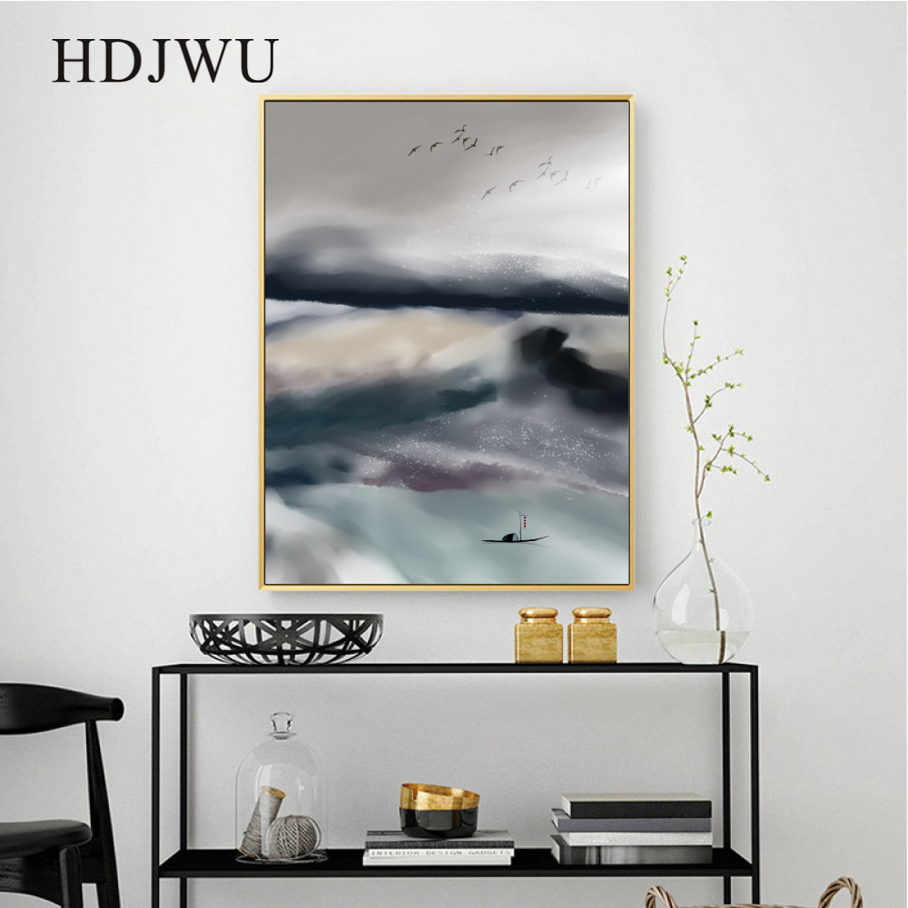 Abstract Art scenery Home Decor Canvas Painting Wall Picture Original Printing Wall Poster for Living Room DJ666 in Painting Calligraphy from Home Garden