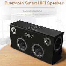 Speaker Wooden Computer IBASS Audio-Support Outdoor Home AUX Car USB Bluetooth Gaga Cell-Phone