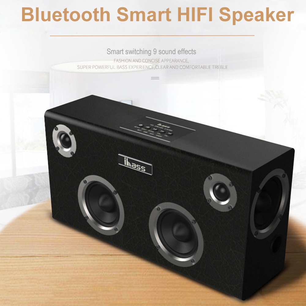 IBASS GaGa <font><b>Bluetooth</b></font> <font><b>Speaker</b></font> Car Outdoor Home 6-unit <font><b>Speaker</b></font> Wooden <font><b>Speaker</b></font> TV Computer Audio support Cell Phone Coaxial AUX USB image