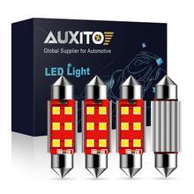 4PCS Festoon 31mm 36mm 39mm 41mm C5W C10W Super Bright 3030 LED Bulbs Car Dome Light Canbus No Error Auto Interior Reading Lamps