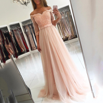 Sexy Pink Long Prom Dresses Sweetheart Aline Off The Shoulder Evening Dresses With Belt Corset Party Gowns mezuniyet elbiseleri purple off the shoulder bell sleeves mini dresses with belt