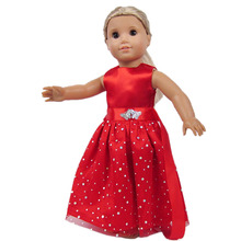 цена на Handmade 15 Colors Princess Dress Doll Clothes for 18 inch Dolls American Girl Doll Clothes and Accessories b1-b20
