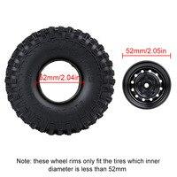 "INJORA 4Pcs 1.9"" Beadlock 12-Holes Wheel Rim Hub for 1/10 RC Crawler Car Axial SCX10 90046 D90 Traxxas TRX-4 6"