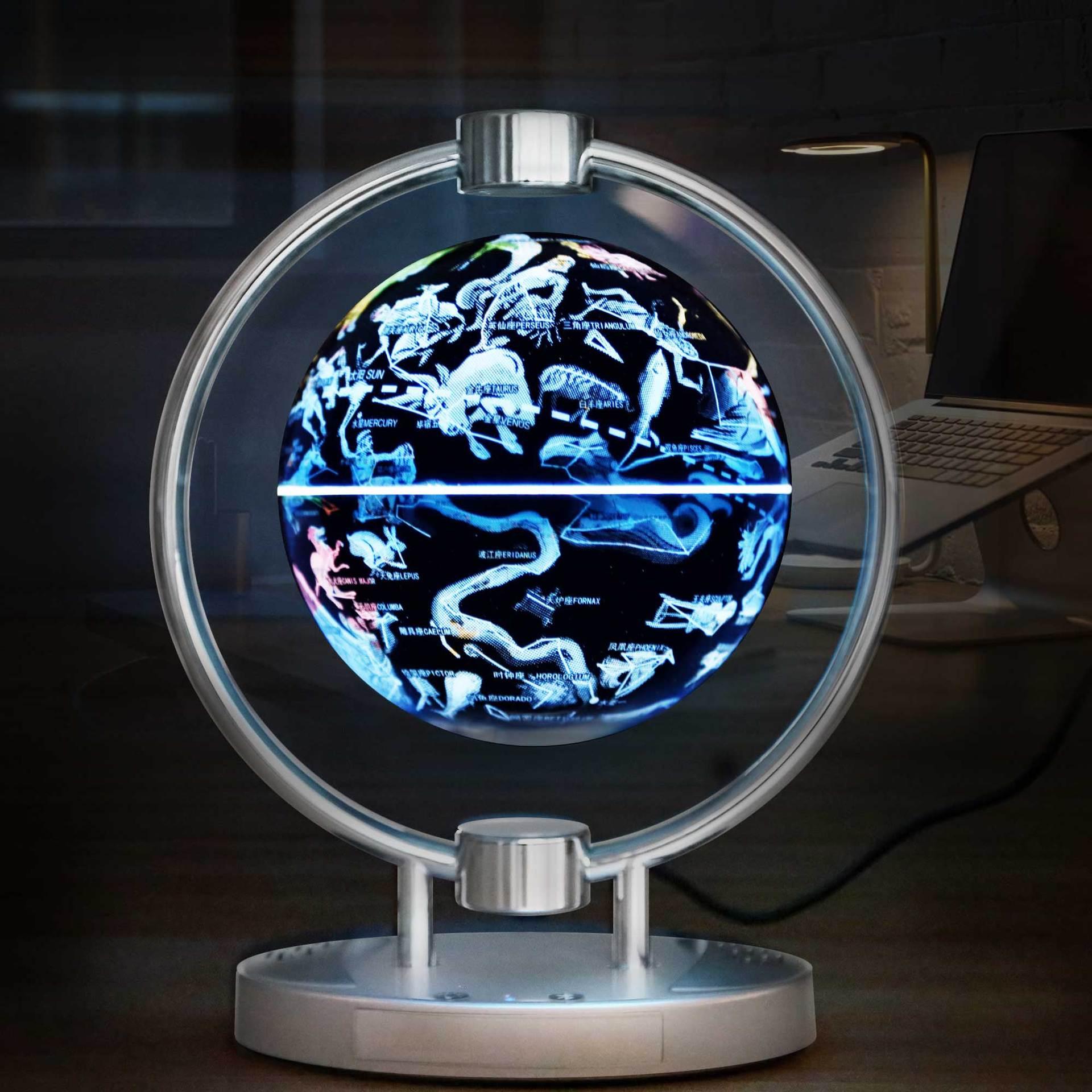 Магнитный левитационный Плавающий глобус, 6 антигравитационная карта мира Созвездие спиннинг шар с сенсорным управлением светодиодный светильник, креативный - 3