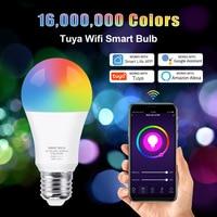 Lampadina Wifi intelligente RGB + bianco + bianco caldo E27 lampadina a Led Tuya Smart Life APP dimmerabile controllo vocale lavora con Alexa,google Home