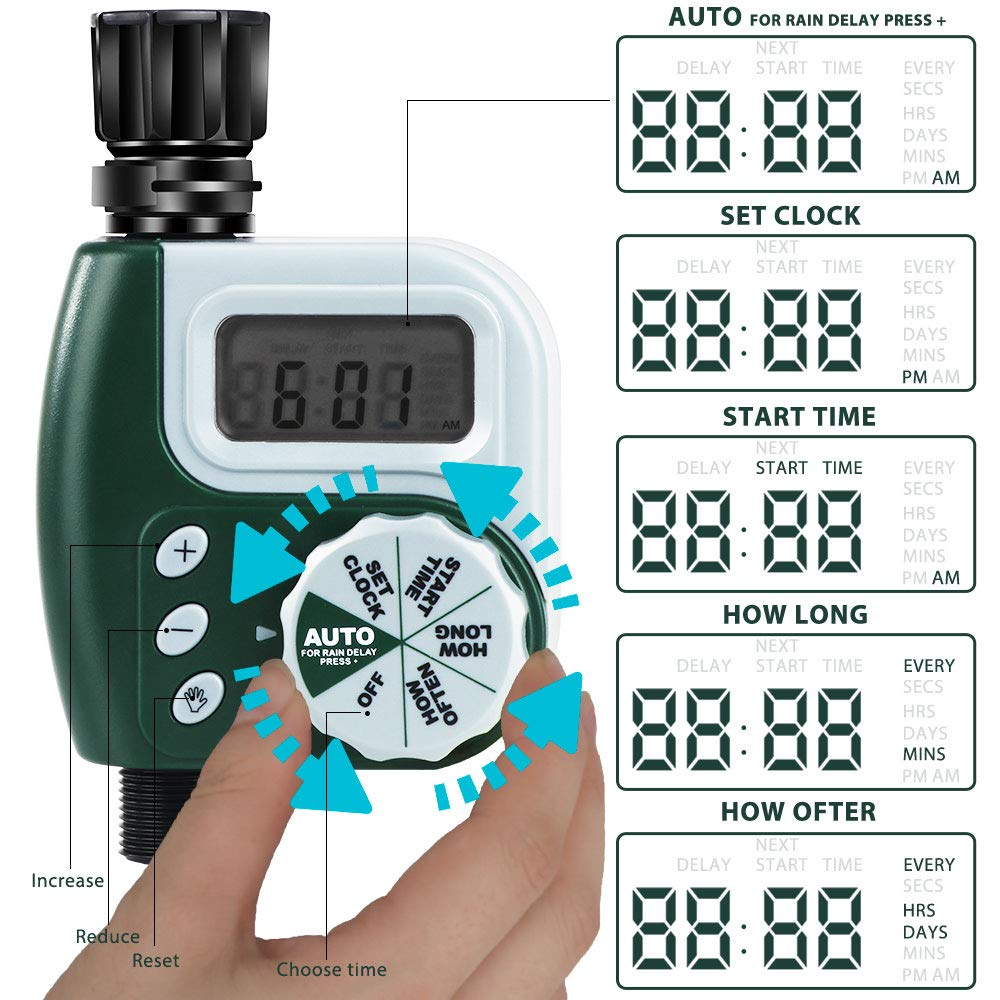 Automatic Electronic Garden Water Timers With Rotate Touch Design For Home 1