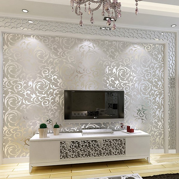 Manufacturers Direct Selling European Style Trumpet Creeper Leaf Wallpaper Bedroom Living Room Television Background Wall Wallpa