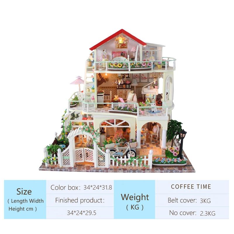 Bricolage maison de poupée cadeau de noël modèle jouets pour lumière éternelle maison de poupée Mini bâtiment Minature artisanat décorations pour la maison 13845 - 2