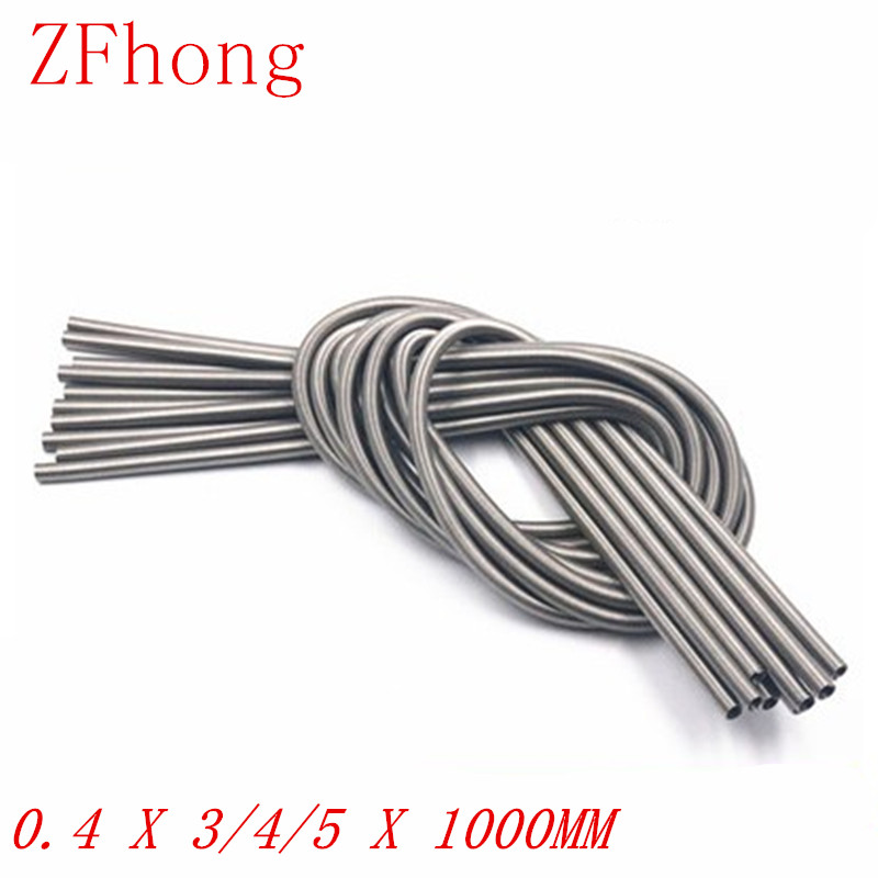 0.4 x 3/4/5 x 1000 Stainless Steel Super Long Tension Spring Extension Spring Wire Dia 0.3mm Out Dia 3mm/4mm/5mm Length1000mm image