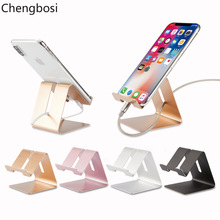 цена на Mobile Phone Holder Stand Aluminium Alloy Metal Tablet Stand Universal Holder for iPhone XS MAX /8/7/6/5 Plus Samsung Phone/ipad