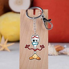Forky Woody Aliens Buzz Lightyear Jessie PVC Action Figure Toy Doll Cute Keychain Key Chain Ring Kids Gift B736