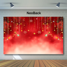 NeoBack Red Christmas Backdrop Christmas Balls Glitter Bokeh Photography Backdrops Party Decor Photo Background Studio Props glitter bokeh christmas photography background pet baby photo props party wall decoration brown backdrop xt 5667