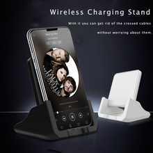 Wireless Charger Dock 10W Android Mobile Phone Fast Charging Holder Pad Desktop Micro USB For Apple IPhone Samsung Xiaomi Huawei