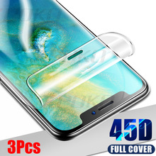 3Pcs 45D Screen Protector Hydrogel Film For Huawei P30 P20 Mate 20 Lite Pro Prot