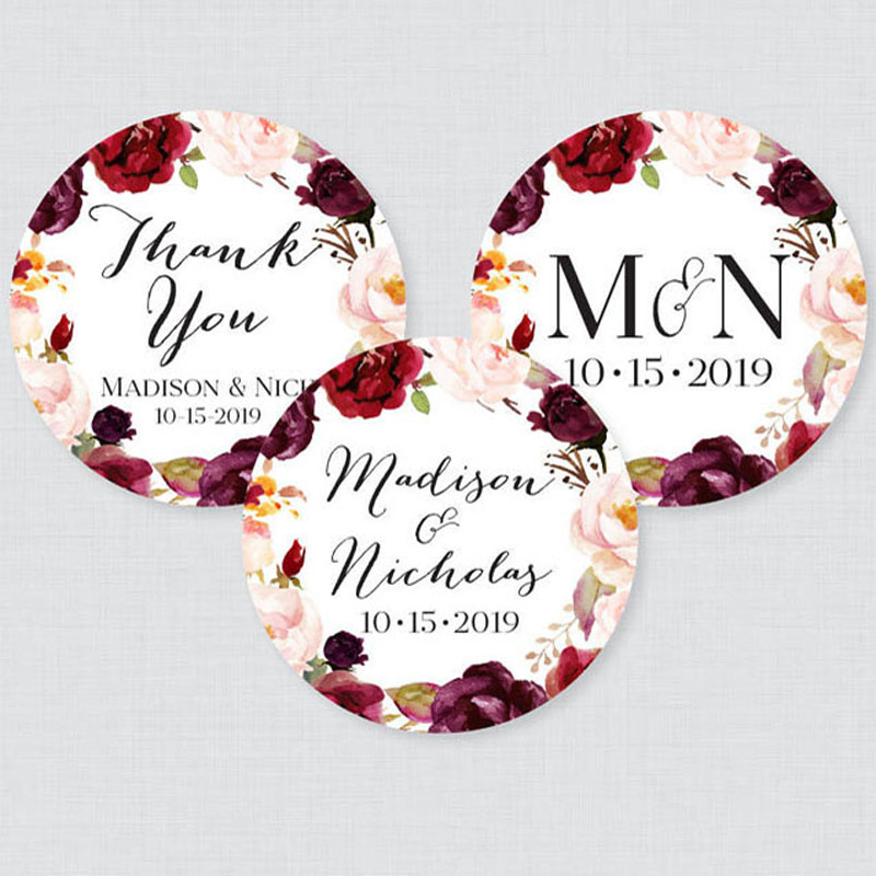 100pcs 3-7cm Customize Personalised Name Clear Transparent White Kraft Sticker, Wedding Sticker Logo Eyelashes Sticker