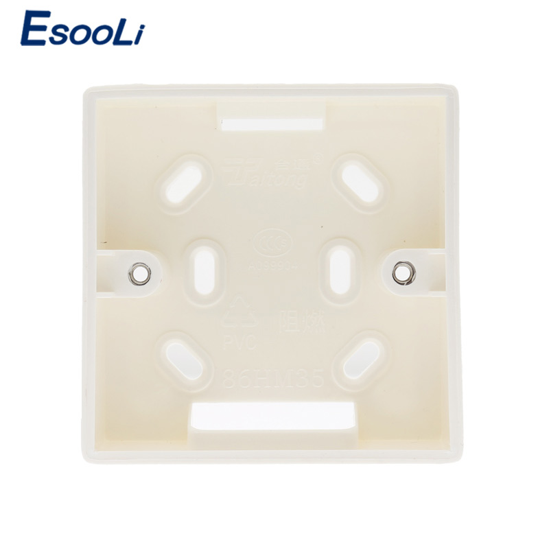 EsooLi 86X86 PVC Thickening Junction Box Wall Mount Cassette External mounting box uitable for 86 standard switch and socket