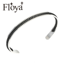 Floya Handmade Bangles Natural Hand Knit Stainless Steel Bracelets Women Strand Cuff Bracelet Ethnic Charm Pulseira Feminina