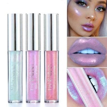 Makeup Crystal Glow Lip Gloss Laser Holographic Tattoo Liquid Lipstick Mermaid Pigment Glitter Lipgloss Metallic