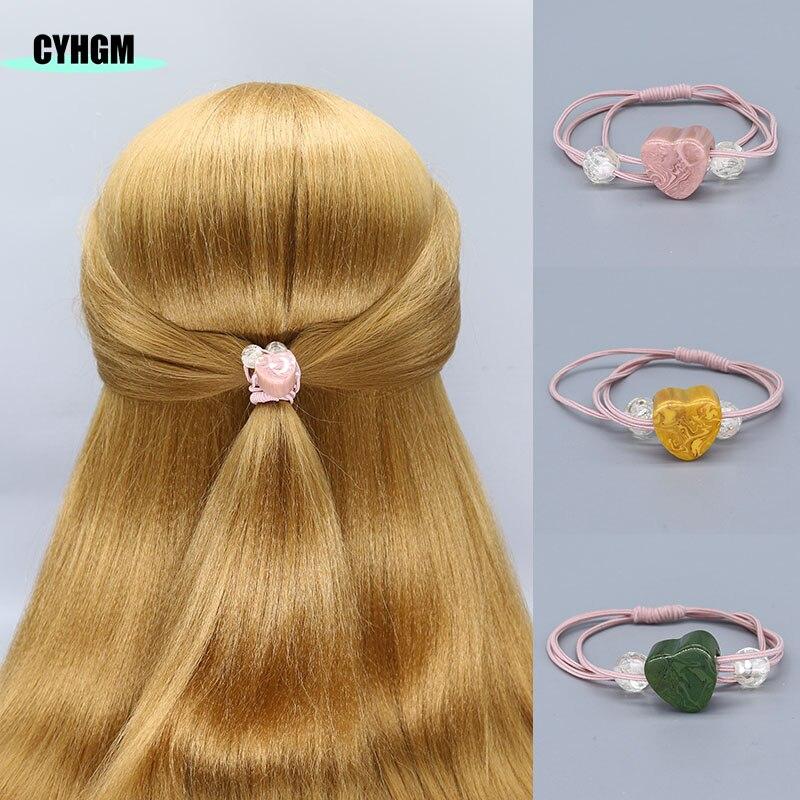 Hair Ties Elastic Hair Bands Elastique Srunchies Velvet Pack Girls Women Hair Accessoires Cheveux F04-4
