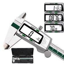 ステンレス鋼デジタルノギス数/mm/インチノギス電子pachometer金属schuifmaat測定口径