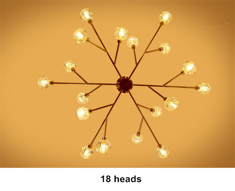 Hbf5e0eaf7b684ed08d3f82ea4bf065d1b Flush Mount Ceiling Light | Ceiling Lamp | New crystal ball ceiling Lighting Gold branch design lustres ceiling lamp for living dining room cristal lighting fixtures Voltage 85-265V