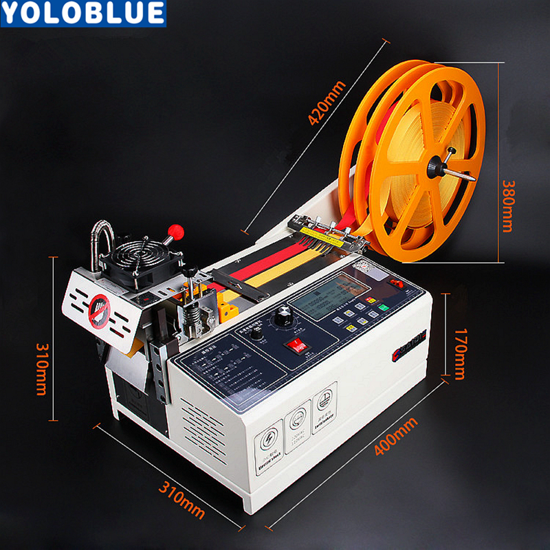 988T computer automatische warmen und kalten Tuch gürtel schneiden maschine magie klebeband zipper gurtband maschine elastische gürtel schneiden
