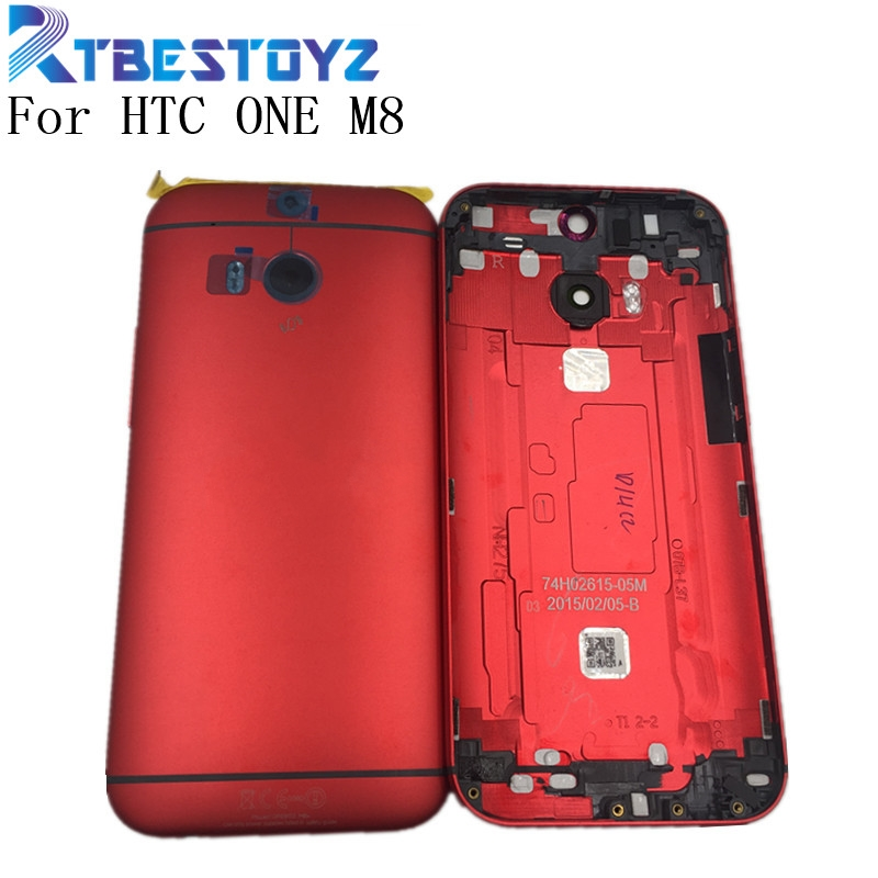 RTBESTOYZ Back Cover For <font><b>HTC</b></font> ONE <font><b>M8</b></font> 831C Rear Housing Back <font><b>Battery</b></font> Cover Door <font><b>Case</b></font> With Power Volume Button Key image