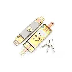 1 zestaw brama rolowana Anti theft kłódka z kluczem rdzeń roleta bezpieczne zainstalować w środku lub na dole zamek do drzwi do garaż w domu magazynu Zamki do drzwi    -