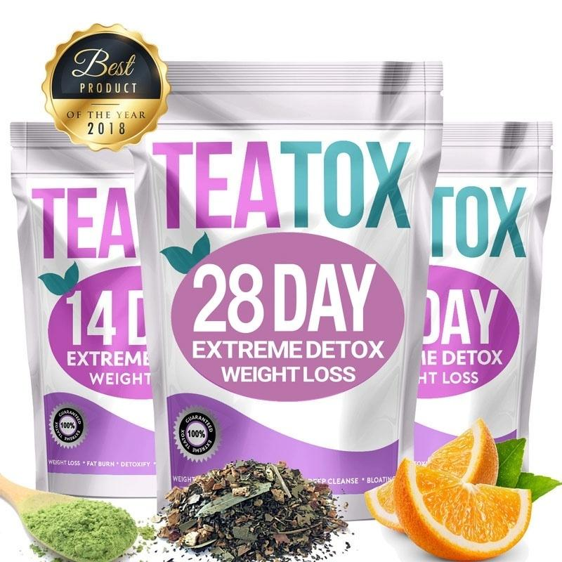 Colon Cleanse Fat Burn 28 Day Detox Set Weight Loss Tea Slimming Tea Teatox