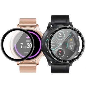 Перейти на Алиэкспресс и купить Мягкая прозрачная защитная пленка с изогнутыми краями 3D для Huawei Honor Magic 2 Watch 42 мм Magic2 46 мм защита экрана (не стекло
