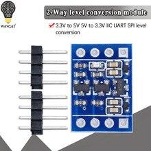 1 шт. 2 канала межсоединений интегральных схем I2C материнскую плату преобразователь уровня двунаправленный при напряжении от 5 в до 3,3 релейн...