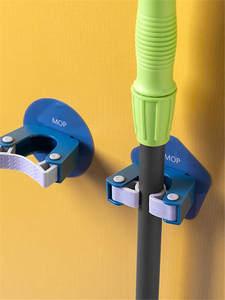 Holder Brush Mop-Hook Broom Hanger Mop-Organizer Storage-Rack Mounted-Hanging Kitchen-Clip