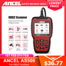 Ancel AS500 OBD2 obd 2 スキャナエンジンコードリーダーobd車の診断ツール多言語無償アップデートODB2 自動車スキャナ