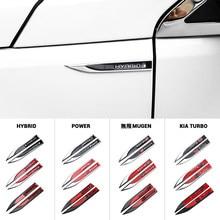 Badges autocollants 3D en métal pour aile de voiture droite et gauche, emblème décoratif pour Audi SLINE R BMW M VW Volkswagen GTI R GTD, 2 pièces
