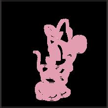 Дисней прекрасный застенчивый Минни Маус виниловая наклейка