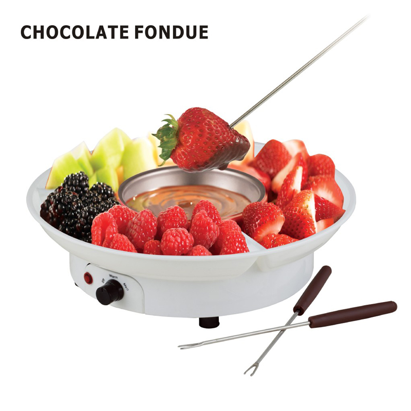 230V Chocolate Fondue Set Electronic Chocolate Melting Pot Dipping Pot Candy Maker Dessert Cheese Fountain Boiler ABS+Stainless