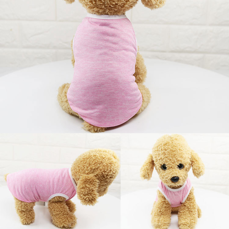 2019 Thin Pet Dog Vest For Small Dog Classic Simple Dirt-resistant Breathable Puppy Dog Teddy Clothes Spring Summer Dog Supplies