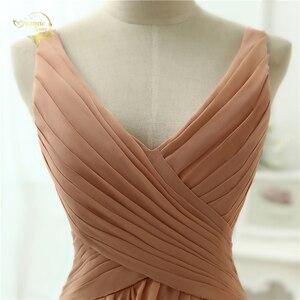 Image 5 - Женское шифоновое вечернее платье, сексуальное длинное платье с V образным вырезом, модель OL3100 по низкой цене, 2020