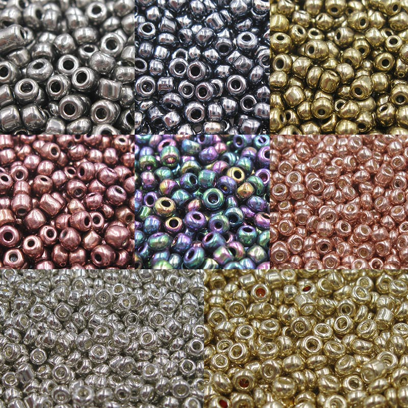 Crystal Beads Jewelry Czech-Seed-Beads Loose-Spacer Glass Makings Silver Gold For Plating