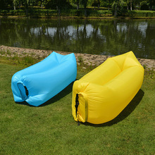 Modern Nylon Inflation Free Portable Lazy Inflatable Sofa Outdoor Beach Air Sofa Bed Fashion Inflatable Bed Outdoor Furniture