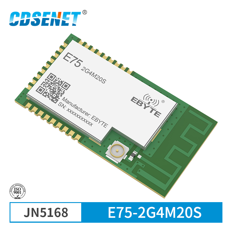 JN5168 Zigbee Wireless 2.4 GHz 100mW Transmissor Receptor CDSENET 20dBm E75-2G4M20S SMD PCB IPEX Módulo Transceptor rf de 2.4 GHz