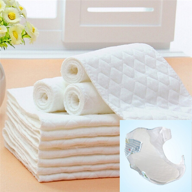 5PCS Newborn Baby Diapers Bamboo Eco Cotton Diapers Toddler Infant Baby Microfiber Soft Nappy Washable And Dryable
