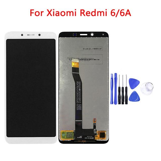 ل شاومي Redmi 6 6A LCD عرض تعمل باللمس محول الأرقام الجمعية استبدال أجزاء