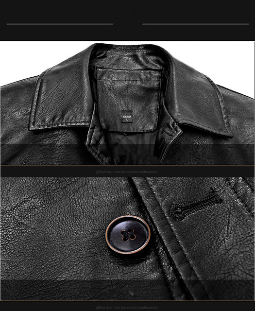 Men's Winter Leather Jacket Soft Thick Warm PU Leather Jacket Male Business casual Coats Man Jaqueta Masculinas Plus Size 4XL Others Men's Fashion