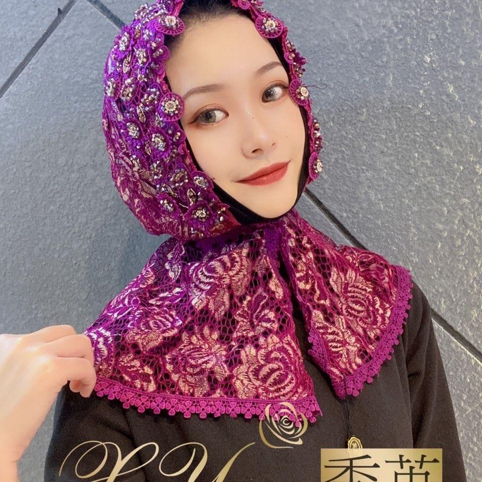 Muslim Islamic Women Luxury Wedding Long Scarf Wrap Hijabs