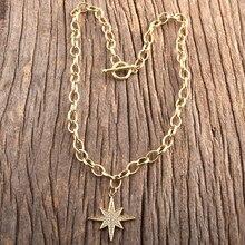 RH – chaîne à maillons de bijoux bohème, Micro Zircon pavé, pendentif Boho, cadeau