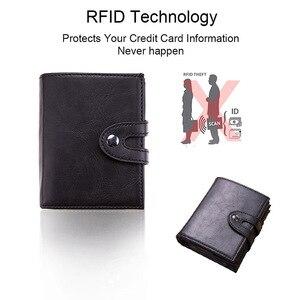 Image 5 - DIENQI RFID bloquant porte carte hommes Vintage affaires portefeuille intelligent banque id porte cartes étui de poche Protection nederlands